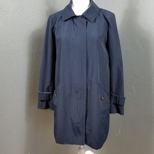 J Crew Collection Trench Coat 12 Long Jacket